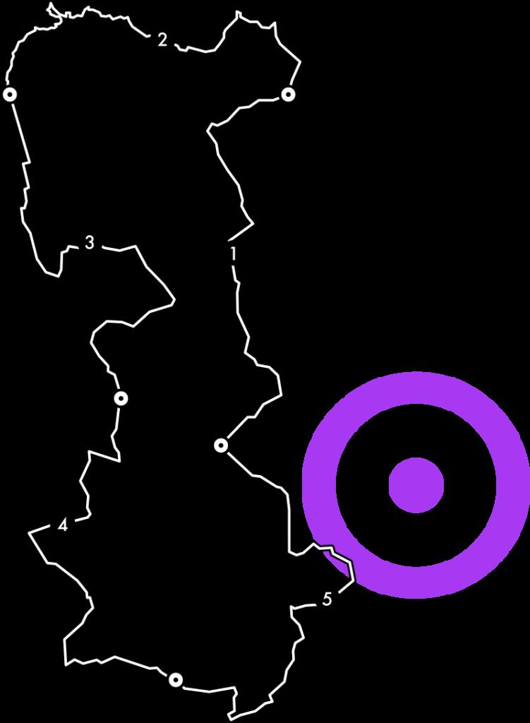 Mapa de tramos Cyclope