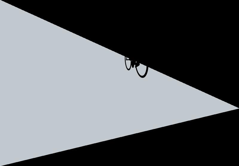 Bicicleta sobre triángulo
